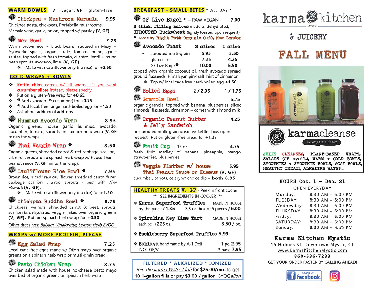 Menu EARLY FALL 2018 pg.2 web